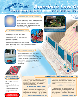 SolarAttic PCS3 solar pool heater brochure inside left page.