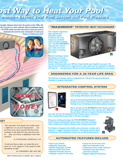 PCS3 solar pool heater brochure inside right page